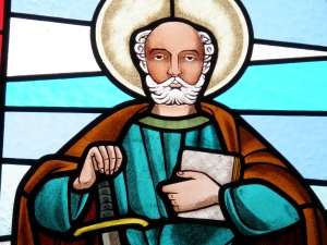 Vitral do Apóstolo Paulo na Igreja de Folgosinho